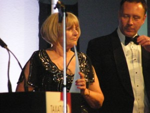 Patricia presenting the 'Regional Tax Practice' Of The Year Award