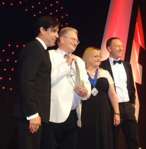 Peter with Tax Writer Award at Tax Awards 2014