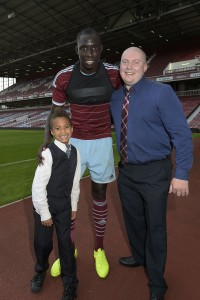 Brother Ian and son Michael with Mo Diame