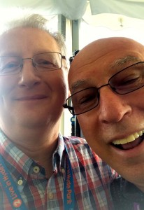 A dodgy selfie with Ken Bruce