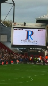 PRTC advert on big screen