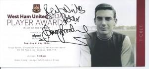 West Ham dinner ticket