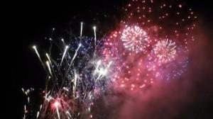 Closing firework display