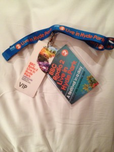 My VIP pass and mini programme