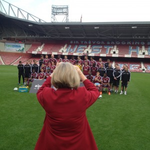 Patricia taking team photo....