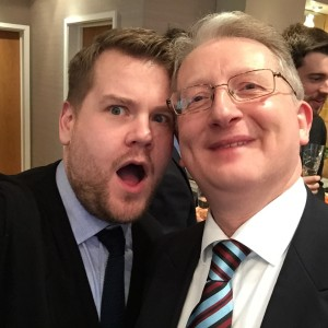 Great selfie with James Corden