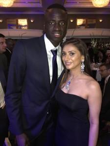 Amita with Cheikhou