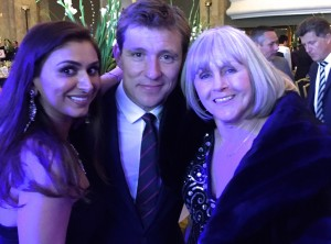 Ben Shephard surrounded by two beauties...