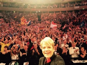 A great proms selfie by conductor Marin Alsop