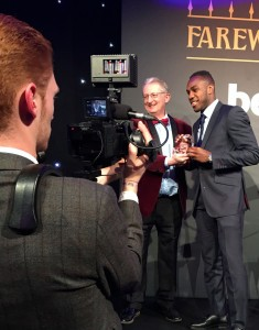 Peter Rayney Presenting Michail Antonio with his award