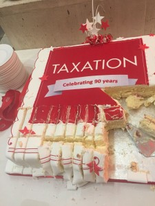 TAXATION 90th BIRTHDAY CAKE
