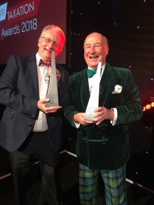 Peter and Robert show off their Tax Awards