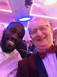 Peter with Arthur Masuaku